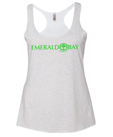 Emerald Bay Swim Adult Ladies Racerback Tank (Heather White)