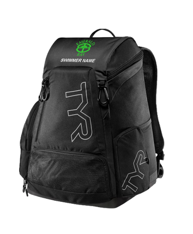 Emerald Bay Swim Personalized Backpack (Black)