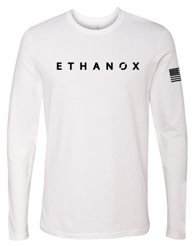Ethanox Premium Long Sleeve Tee (White)