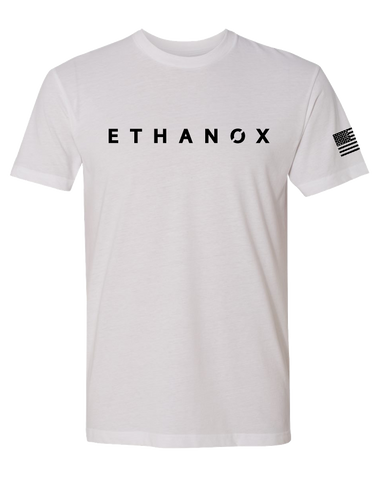 Ethanox Mens Premium Sueded Tee (White)
