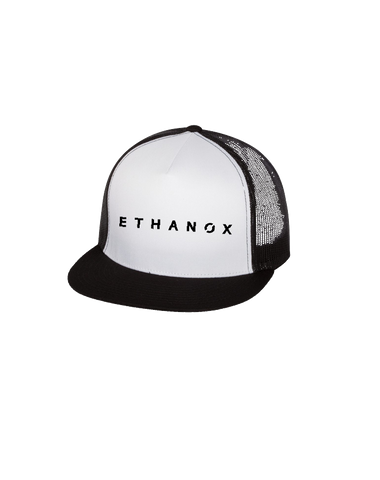 Ethanox Trucker Cap (Black-White)