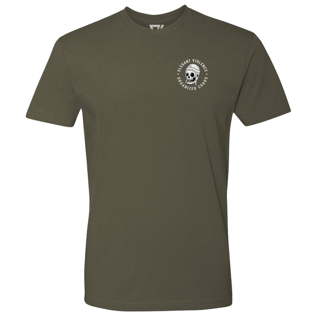 Scrum Skull Icon Premium Tee (Military Green)