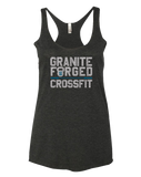 Granite Forged Womens Tri-Blend Racerback Tank (VintageBlack)