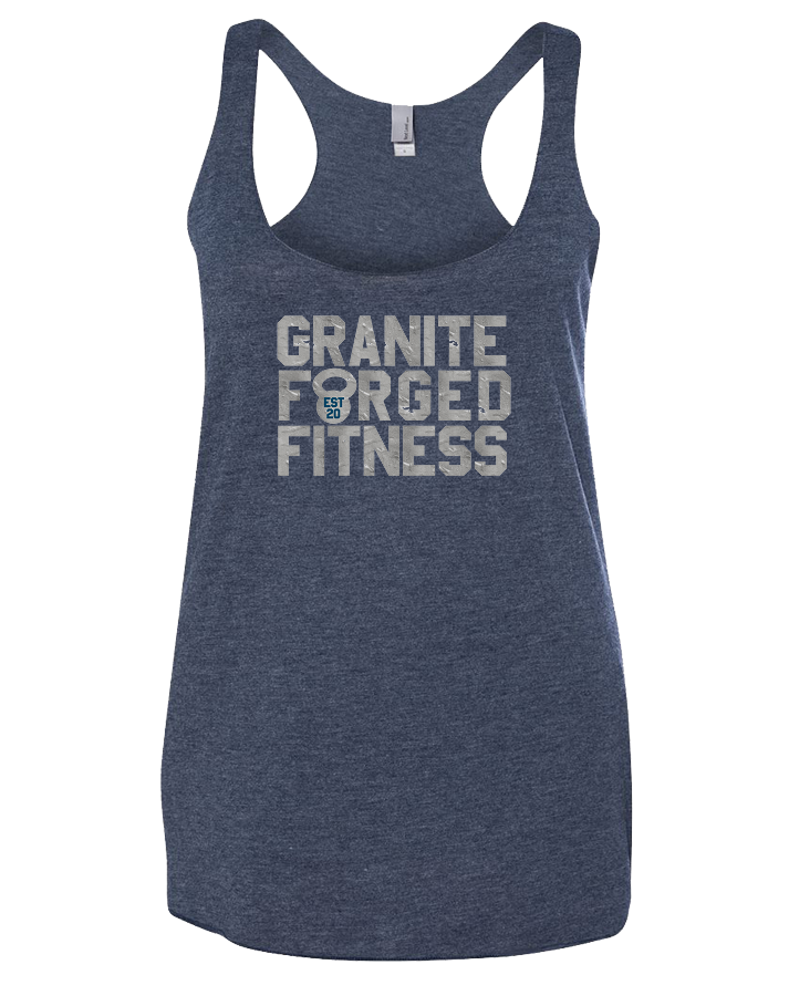 Granite Forged Womens Tri-Blend Racerback Tank (VintageNavy)