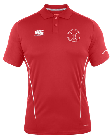 KWCRFC Shield Icon Vapodri Polo (Red-White)