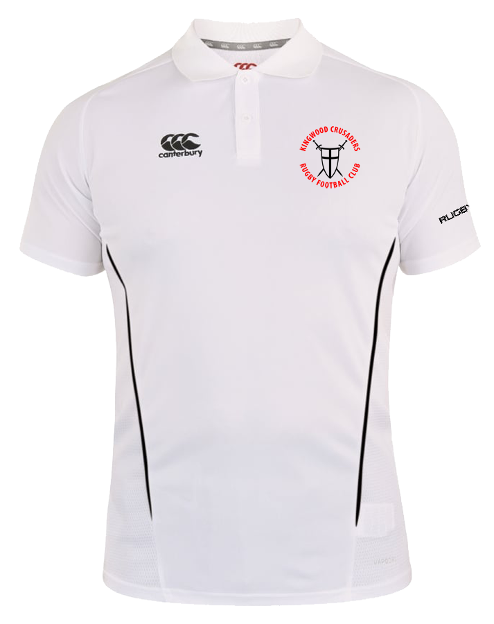 KWCRFC Shield Icon Vapodri Polo (White-Black)