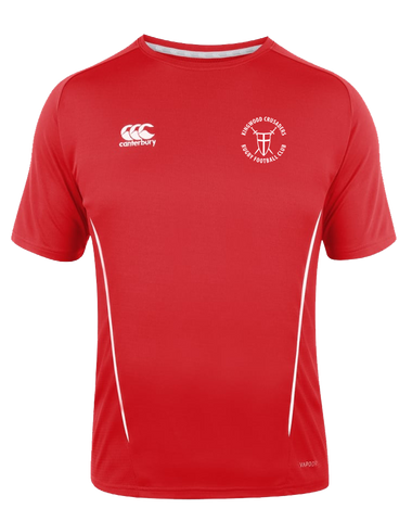 KWCRFC Shield Icon Vapodri Tee (Red-White)