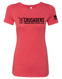 KWCRFC Core Womens Tri-Blend Tee (VintageRed)
