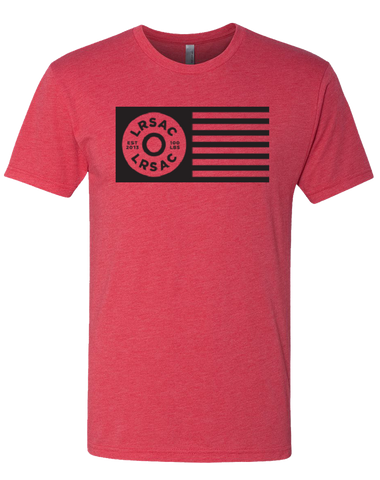 LRSAC Plate Flag Mens Tri-Blend Crew (VintageRed)