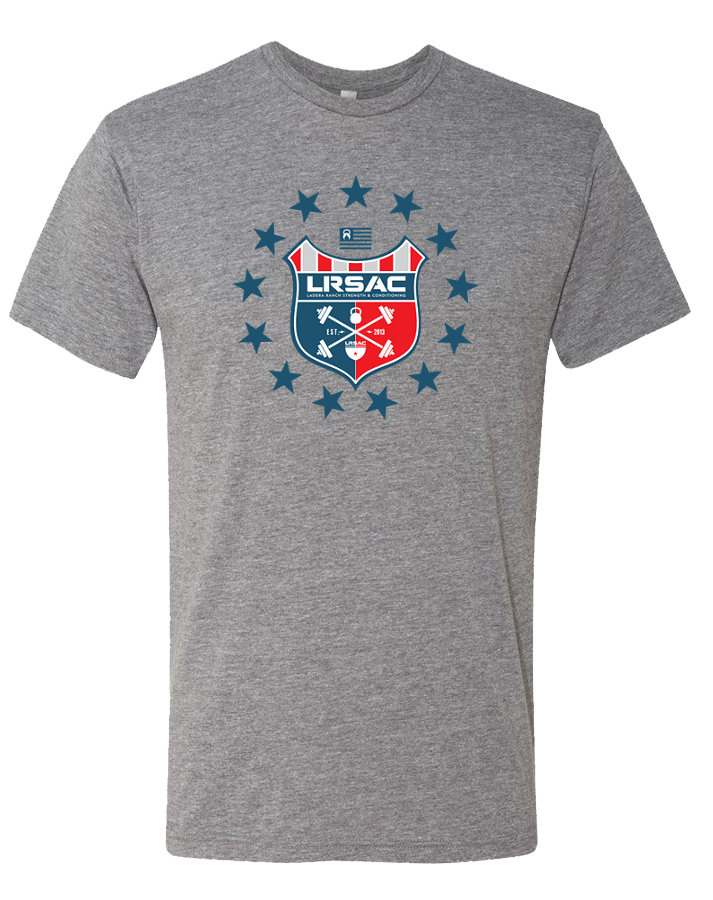 LRSAC Shield Mens Tri-Blend Crew (PremiumHeather)