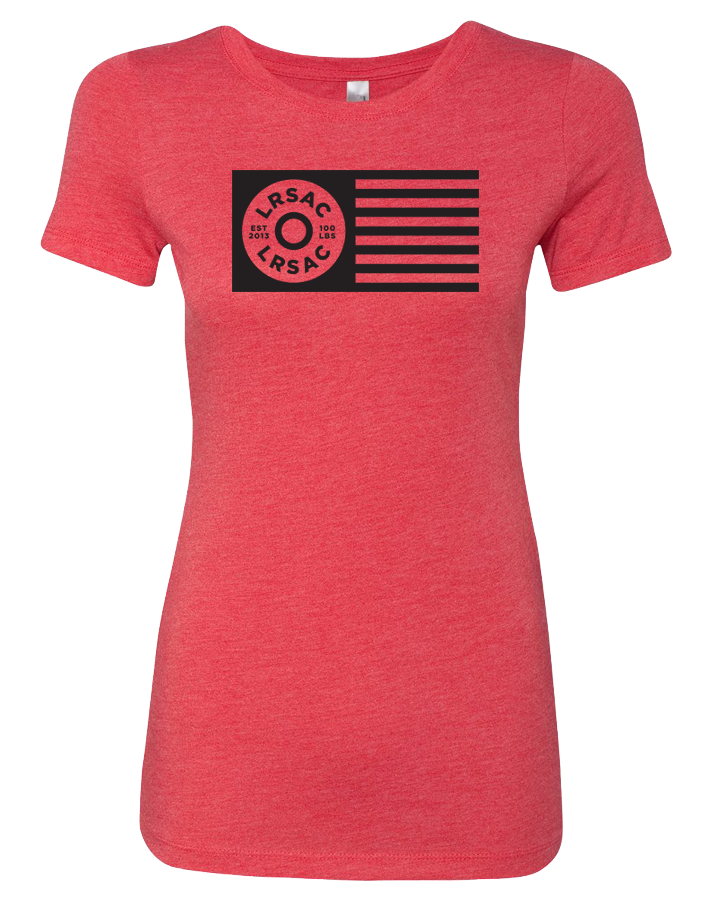 LRSAC Plate Flag Womens Tri-Blend Tee (VintageRed)