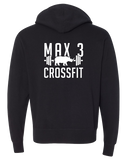 Max 3 CrossFit Core Full Zip Hoodie (Black)