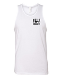 Max 3 CrossFit Braid Strong Mens Premium Tank (White)