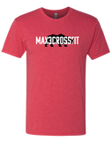 Max 3 CrossFit Mens Tri-Blend Crew (VintageRed)