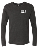 Max 3 CrossFit Core Triblend Long Sleeve Tee (VintageBlack)