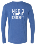 Max 3 CrossFit Core Triblend Long Sleeve Tee (VintageRoyal)