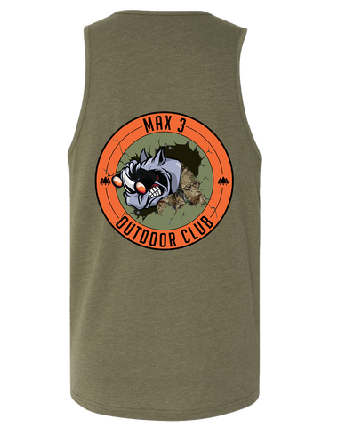 Max 3 CrossFit Outdoor Club Mens CVC Tank (MilitaryGreen)