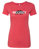 Max 3 CrossFit Womens Tri-Blend Tee (VintageRed)