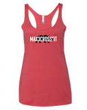 Max 3 CrossFit Womens Tri-Blend Racerback Tank (VintageRed)