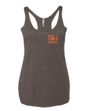 Max 3 CrossFit Outdoor Club Womens Tri-Blend Racerback Tank (Macchiato)
