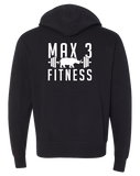 Max 3 Fitness Full Zip Hoodie (Black)