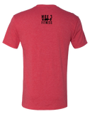 Max 3 Fitness Mens Tri-Blend Crew (VintageRed)