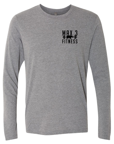 Max 3 Fitness Triblend Long Sleeve Tee (PremiumHeather)