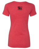 Max 3 Fitness Womens Tri-Blend Tee (VintageRed)