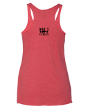 Max 3 Fitness Womens Tri-Blend Racerback Tank (VintageRed)
