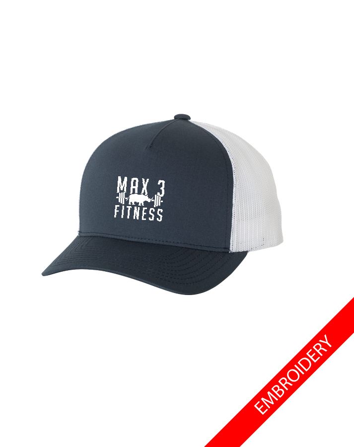 Max 3 Fitness Trucker Cap (Navy-White)