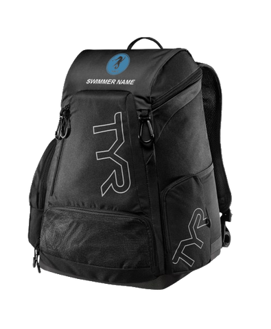 NBCC Swim Personalized Backpack (Black)