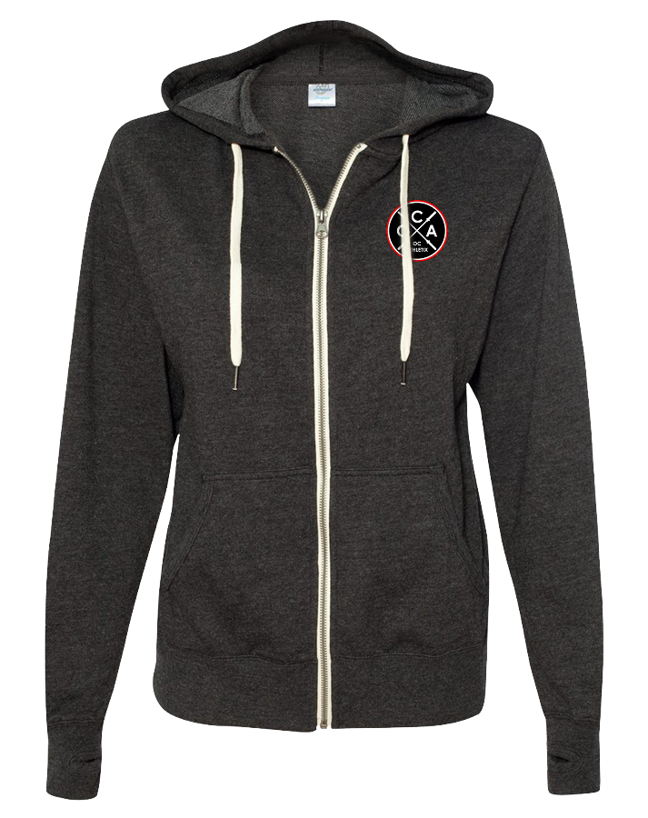 OC Athletix Full Zip Embroidered Hoodie (CharcoalHeather)