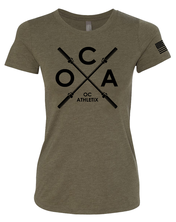OC Athletix Core Womens Tri-Blend Tee (MilitaryGreen)