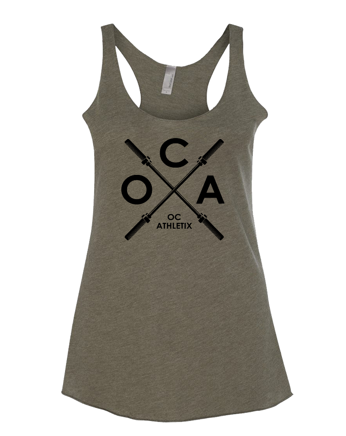 OC Athletix Core Womens Tri-Blend Racerback Tank (MilitaryGreen)