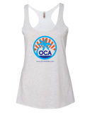 OC Athletix Summer Womens Tri-Blend Racerback Tank (HeatherWhite)