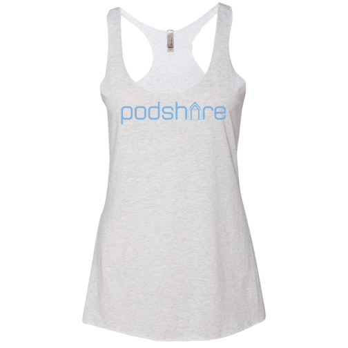 PodShare Core 2 Racerback (Heather White)