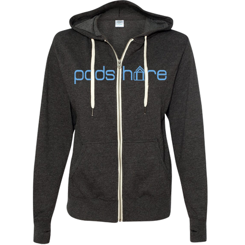 PodShare Core 2 Full Zip Lightweight Hoodie (Charcoal)