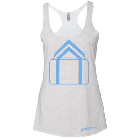 PodShare Core 3 Racerback (Heather White)