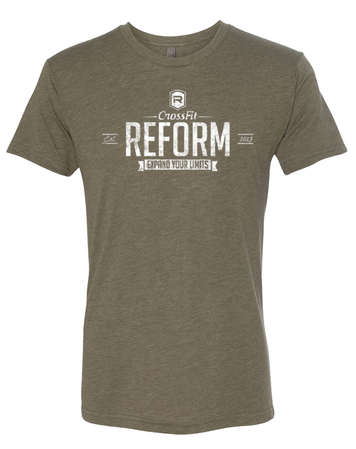 CrossFit Reform Limits Mens TriBlend Crew (MilitaryGreen)