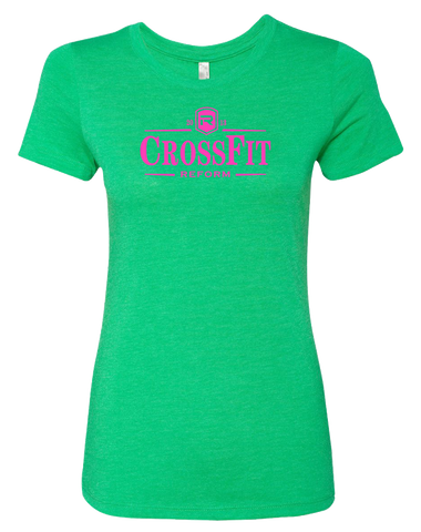 CrossFit Reform Guiness Womens TriBlend Tee (EnvyGreen)