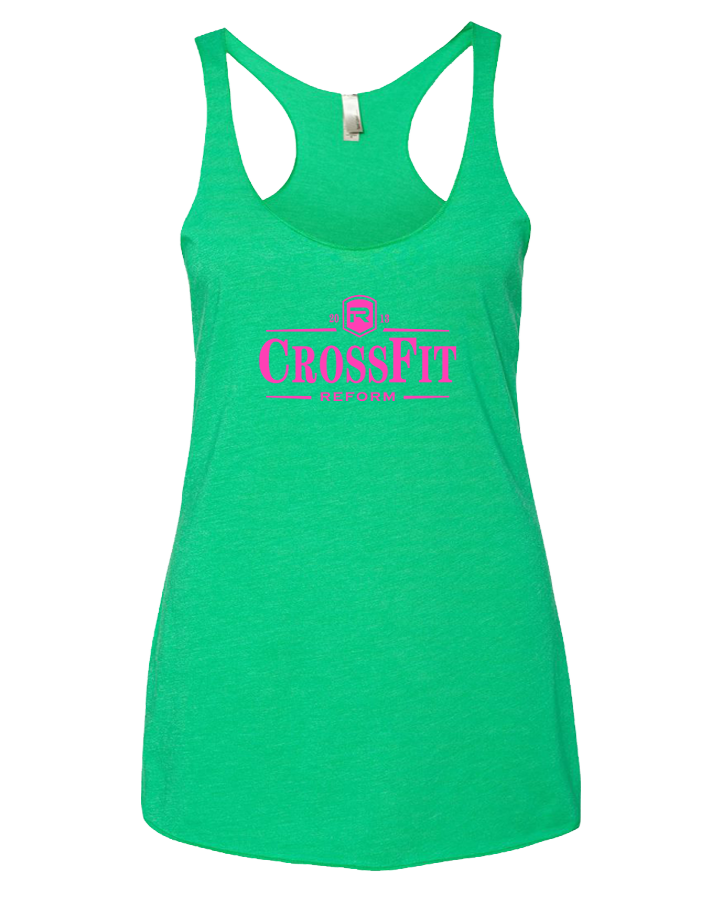 CrossFit Reform Guiness Womens TriBlend Racerback Tank (EnvyGreen)