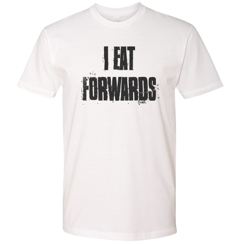I Eat Forwards Mens Tee (White)