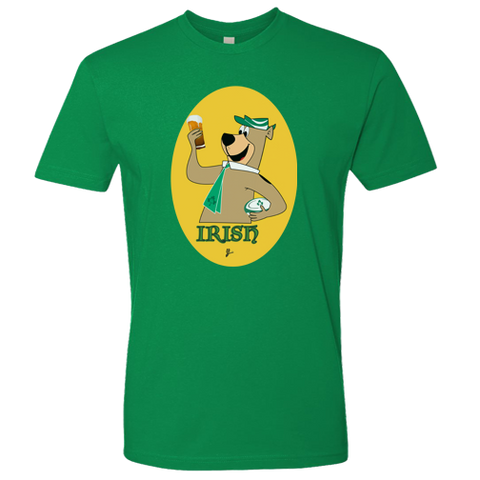 Irish Yogi Rugby Mens Premium Tee (Kelly Green)