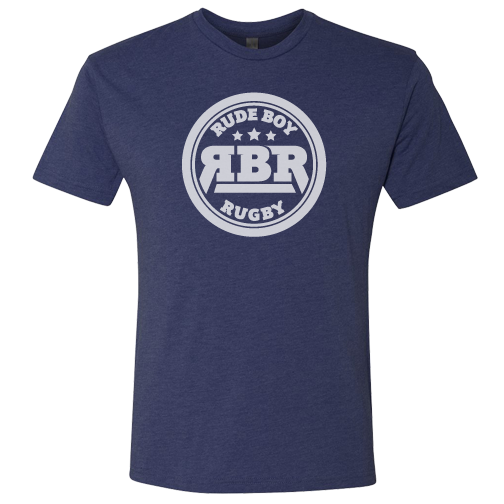 Rude Boy Rugby Classic Mens Tee (Vintage Navy)