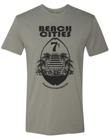 Ravens Beach Cities 7s Tee (Stone Grey)