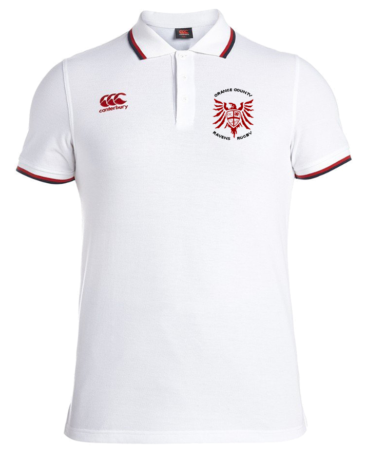 Ravens Rugby Alternate Polo (White/Dark Navy/Red)