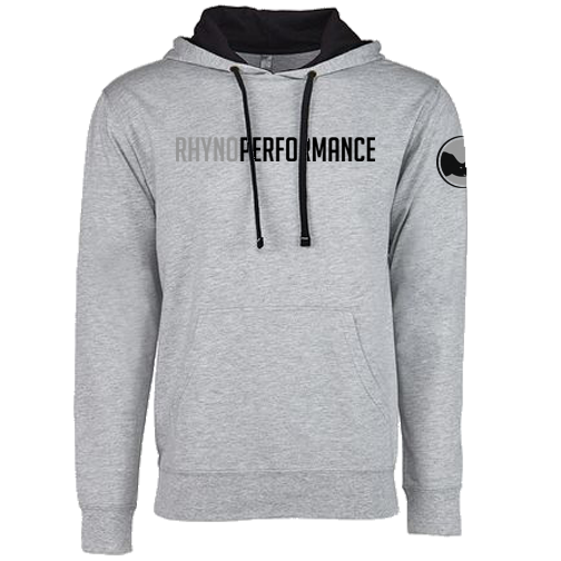 Rhyno Performance French Terry Hooded Pullover (Grey-Black)