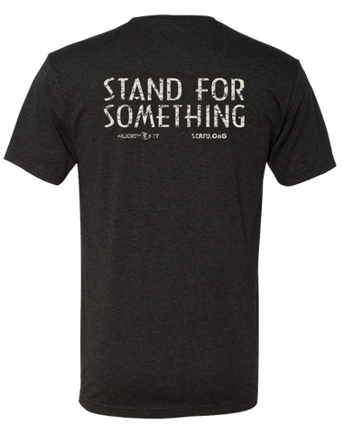 "RugbyFit ""Stand For Something"" Tee (Cement on Vintage Black)"