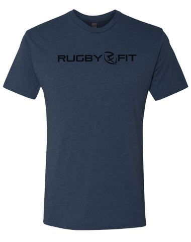 RugbyFit Tee (Black on Vintage Navy)