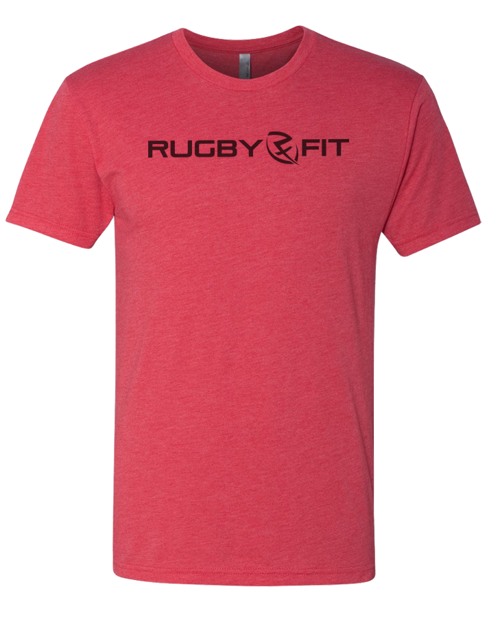 RugbyFit Tee (Black on Vintage Red)
